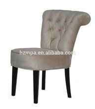 Venda quente estilo francês antigo estofado de madeira sala de jantar cadeiras mpacf- 1895