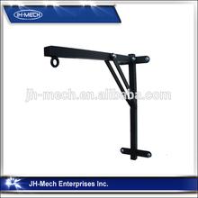 Extendable wood curtain rod brackets