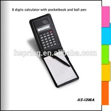 Mini pocket 8 digits notebook Calculator