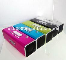 2012 new portable mini speaker for mp3/mp4 ipod with fm TT2B