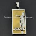 أعلى بيع الفولاذ المقاوم للصدأ صورة يسوع قلادة الدينية