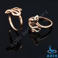 cobre mais recente de ouro anel do dedo de design cobra anel jóias