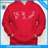 Cotton Polyester Thick Fleece Pullover Sweatshirt Screen Printing