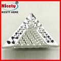custom gravura em metal decorativa dimple açoinoxidável placa triângulo