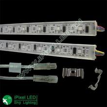 Aluminum extrusion DMX 30leds rgb led digital rigid bar clear or milky cover