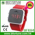 bf1014 praça caso da liga espelho led promocionais projete seu próprio japonês watch relógio de pulso de marcas