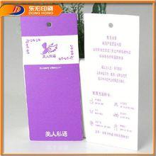 Plastic Cardboard Pvc Pp Pet Garment Hang Tags,Bag Hang Tag