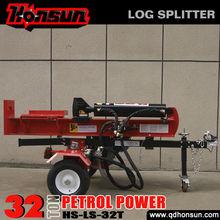 Kohler Command Garden tools recoil/electric start ram travel 610mm hot sale self-power 32ton trailer mounted log splitter