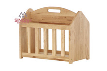 302 American solid white oak portable magazine rack/living room furniture