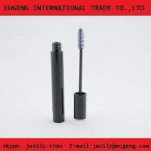 Shiny black aluminium empty eyelash container