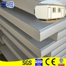 China Prepainted Galvanized Steel 0.5mm steel pu sandwich panel