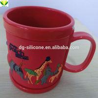 3d soft PVC kids personalized plastic promotional mug