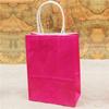 Colorful printing rice kraft paper bag handle