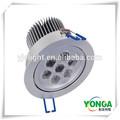 Venta popular 7w luz led techo precio barato en cuerpo de aluminio