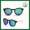 Black plastic Aviator Classic Retro Round Sunglasses wood sunglasses china