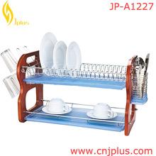 JP-A1227 Hot Sale Utensil Drying Rack 2 Tier/ Decorative Countertop Mug&Bowl Holder