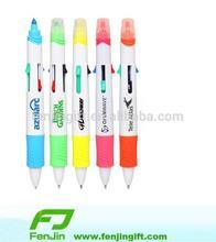 cheap price custom logo multicolored highlighter pen