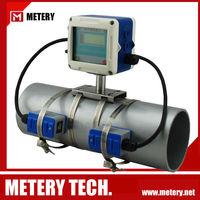 Inline ultrasonic flow meter liquid flow metering gauge
