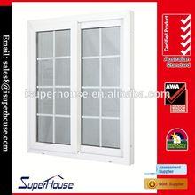 pvc double panels sliding windows