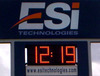 CE RoHS approved date and time led display outdoor used