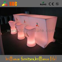 2014 New! LED Bar Table/LED Bar Counter/Light up Bar Furniture acrylic lighted bar furniture