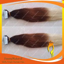 2.5g/piece Brazilian 3 Tone 2/4/24 Human Hair 40pieces Tape Hair Extension Ombre