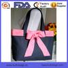 Navy Blue And Pink Bow Anchors Away Handbag Women Shoulder Bag Large Tote Bag