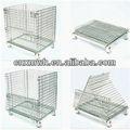 Jaula de acero inoxidable, plegable cesta de alambre, se utiliza el envío de contenedores para la venta
