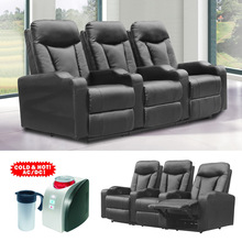 folding cinema recliner chair/home theater chair with cup holder cuo cooler/cinema chair