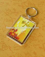 clear hard plastic acrylic keychain supplier