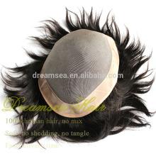 Remy Mono Human Hair Toupee For Man