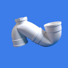 dn110 flexible upvc plastic pipe water drainage wasting S- TRAP Fittings