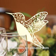 paper cut bird shape place card designs