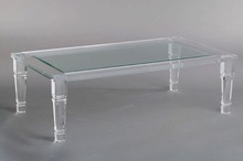 Pure Lucite Coffee Table Clear Acrylic Low End Table