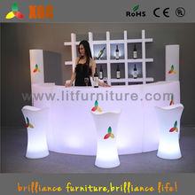modern bar furniture PE plastic LED bar counter / Outdoor Furniture LED wine display table