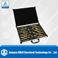17pc de gran tamaño taladradoras/agujereadoras/brocasindustrial conjunto de acero de metal de plata y deming hss con el caso