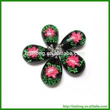 Resin Pendant Real Flower Specimen Inside fashion crystal pressed flower jewelry