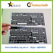2014 Personality customized pvc laptop keyboard label sticker, laptop keyboard sticker printing,laptop keyboard sticker