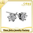 Wholesale 925 sterling silver zircon earrings for boys