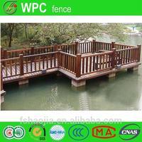 Plastic floor wood bamboo trellis fence expanding bamboo fence