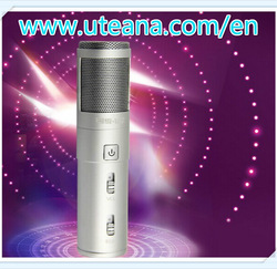 2014 porcket Mini karaoke D8 player microphone for mobile phone MP3 MP4 laptop