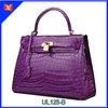 Latest design characteristics fashion handbag ladies genuine crocodile leather handbag with exquisite lock