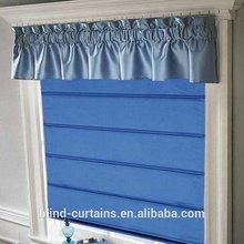 modern design 2 layer cord lock roman curtain