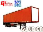 Guangdong GOLDEN 13m Tri Axle Side Curtain Dry Bulk Cargo Semi Trailer