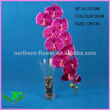 126cm tronco único 11 flores flor artificial grande atacado red orquídeas