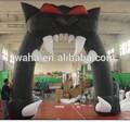 atacado decoração de halloween inflável gato preto porta