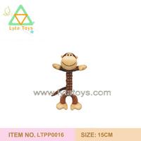 cute plush monkey pet toy for dog