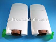 2014 atacado forma oval recipiente plástico de desodorante para o pacote de cosméticos, 50g, 70g, recipiente de creme