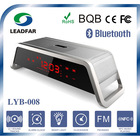 With Music Alarm Clock,Night Light, Hands Free,High-End Promotional Gift Car Bluetooth Speaker