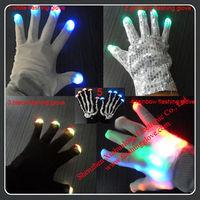 Fashion Flash Glow in the Dark Bulk LED Gloves
